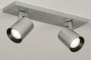 plafondlamp 72571 sale modern design aluminium aluminium geschuurd aluminium metaal rechthoekig