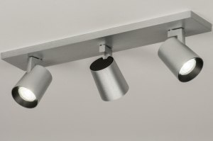 plafondlamp 72574 sale design modern aluminium geschuurd aluminium metaal aluminium langwerpig rechthoekig