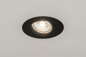 recessed spotlight 72581 modern contemporary classical aluminium metal black matt round