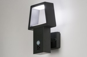 wall lamp 72591 designer modern metal black matt dark gray