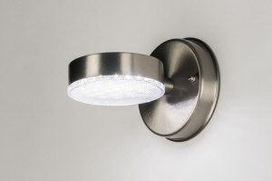 wall lamp 72595 sale modern stainless steel metal steel gray round