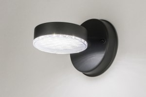 wall lamp 72596 modern metal black dark gray round
