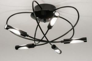 plafondlamp 72600 sale modern eigentijds klassiek metaal zwart glans rond