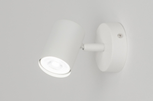 spotlight 72602 modern metal white matt round