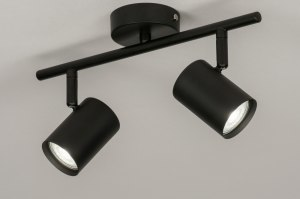 spotlight 72604 modern metal black matt oblong