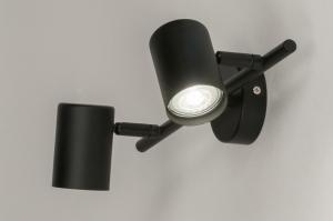 plafondlamp 72604 modern metaal zwart mat langwerpig