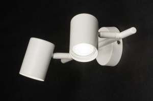 plafondlamp 72605 modern metaal wit mat langwerpig