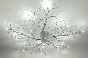 plafondlamp 72611 modern eigentijds klassiek metaal chroom rond