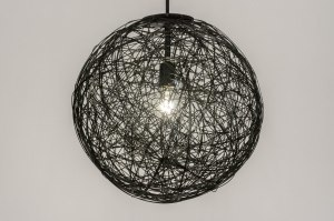hanglamp 72622 sale modern aluminium metaal zwart mat rond