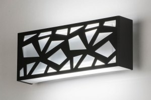 wall lamp 72639 designer modern plastic metal dark gray oblong rectangular