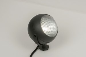 outdoor lamp 72648 modern retro aluminium metal black dark gray round