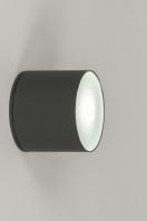 plafondlamp 72665 modern aluminium antraciet rond