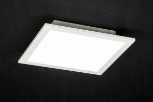 plafondlamp 72675 modern wit mat aluminium kunststof vierkant