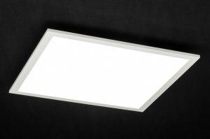 plafondlamp 72677 modern wit mat aluminium kunststof vierkant