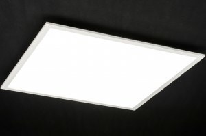 plafondlamp 72678 modern wit mat aluminium kunststof vierkant