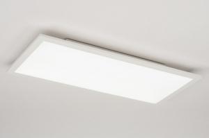 plafondlamp 72680 design modern aluminium kunststof wit mat langwerpig rechthoekig