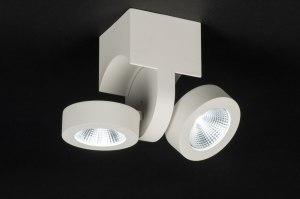spot 72683 sale design landelijk rustiek modern aluminium metaal wit mat rond langwerpig