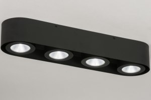 spotlight 72695 sale designer modern aluminium metal black matt oblong