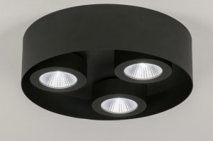 ceiling lamp 72698 modern metal black matt round
