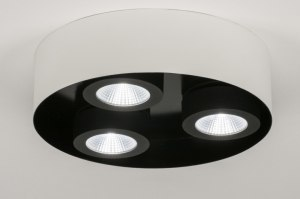 spotlight 72699 sale modern metal black white matt round