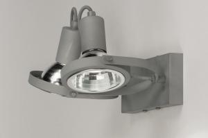 plafondlamp 72723 modern landelijk rustiek stoer raw betongrijs grijs metaal rond