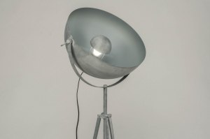 lampadaire 72730 moderne look industriel lampes costauds gris beton gris acier rond