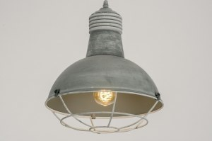 pendant light 72732 industrial look rustic modern metal concrete gray