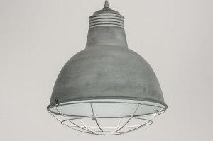 hanglamp 72733 modern landelijk rustiek industrie look stoer raw betongrijs metaal rond