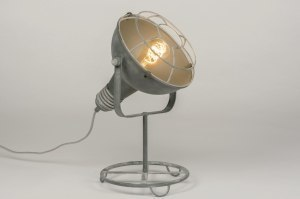 table lamp 72736 industrial look rustic modern contemporary classical metal concrete gray round