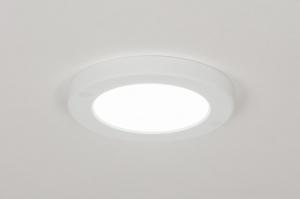 plafondlamp 72740 modern kunststof wit mat rond
