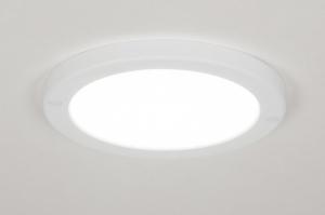 plafondlamp 72741 modern kunststof wit mat rond