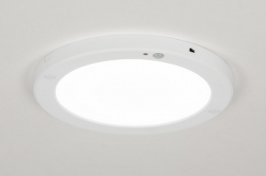 plafondlamp 72742 modern kunststof wit mat rond