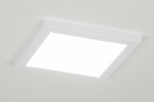 ceiling lamp 72743 modern white matt plastic square