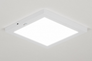 ceiling lamp 72744 modern plastic white matt square