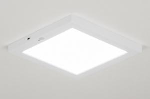 plafondlamp 72744 modern kunststof wit mat vierkant