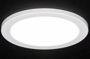 plafondlamp 72745 modern wit mat kunststof rond