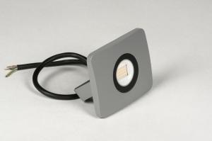 wandlamp 72748 sale design modern aluminium metaal betongrijs rechthoekig