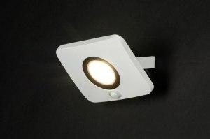 wandlamp 72753 modern design wit mat aluminium metaal rechthoekig