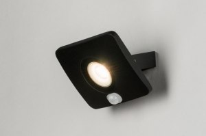 wandlamp 72754 design modern aluminium metaal zwart mat rechthoekig