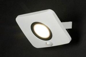 wandlamp 72756 design modern aluminium metaal wit mat rechthoekig