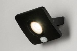 wandlamp 72757 design modern aluminium metaal zwart mat rechthoekig