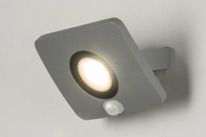 wandlamp 72758 design modern aluminium metaal betongrijs rechthoekig