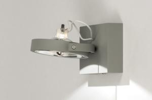 plafondlamp 72760 sale modern design industrie look betongrijs grijs aluminium metaal rechthoekig