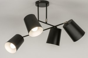ceiling lamp 72770 modern metal black matt