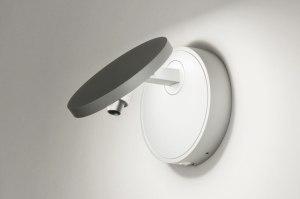 wandlamp 72779 design modern aluminium zilvergrijs rond