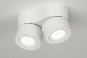 spot 72788 design modern aluminium wit mat rond
