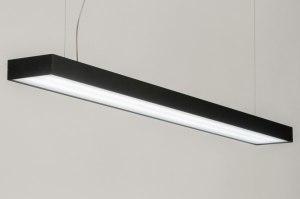hanglamp 72818 sale modern zwart mat aluminium metaal rechthoekig