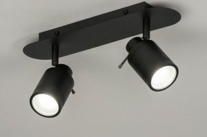 spotlight 72836 modern aluminium metal black matt oblong