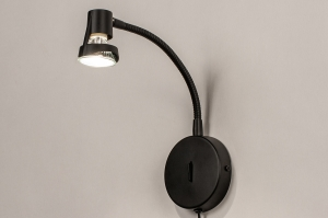 wall lamp 72843 modern metal black matt