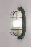 ceiling lamp 72860 industrial look rustic raw contemporary classical glass clear glass metal grey concrete gray oval